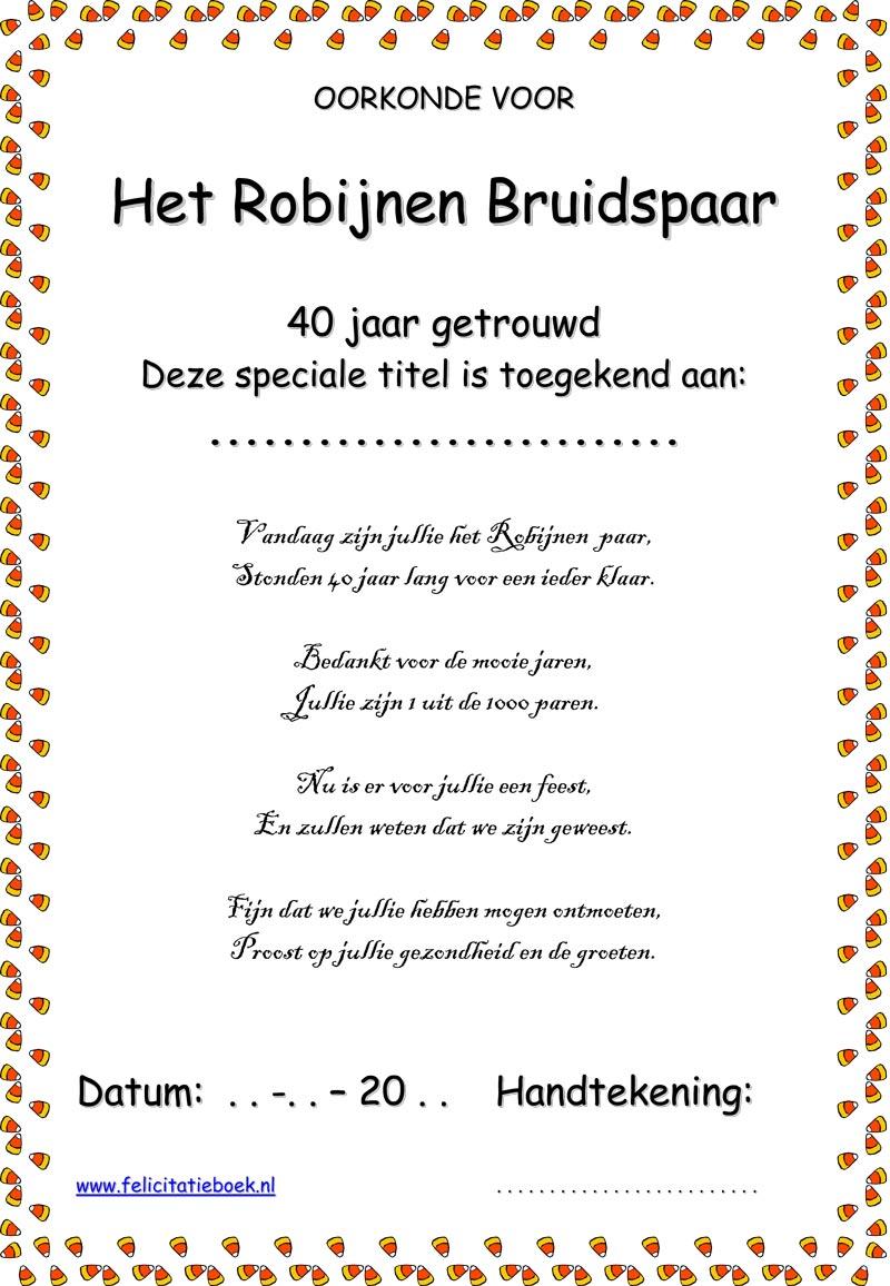 40 Jaar Jubileum Gedicht